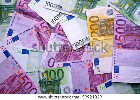 Pile of euro