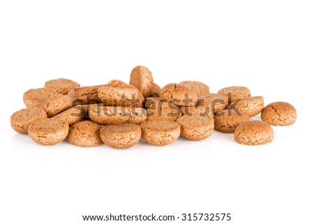Pile of ginger nuts. Typical Dutch candy for Sinterklaas event in december - stock photo