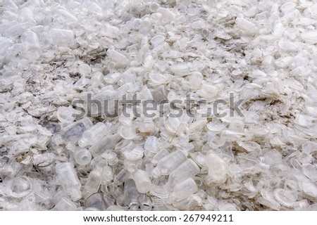 Pile of glass bottle for the recycling - stock photo