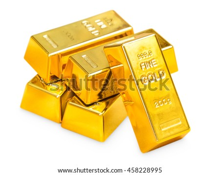 Pile of gold - stock photo