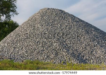 Pile of gravel. - stock photo