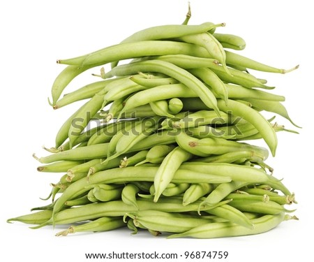 Pile of green beans - stock photo