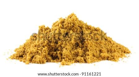 Pile of ground coriander - stock photo