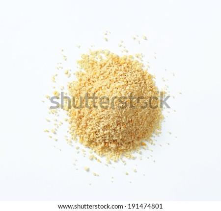 Pile of homemade breadcrumb - stock photo