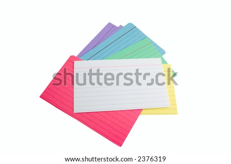 Pile of index cards - stock photo