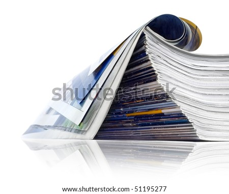 Pile of journals - stock photo