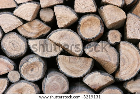 Pile of logs background