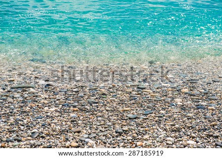Pile of mexican pebble rocks - stock photo