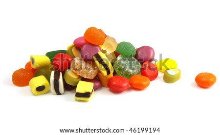 Pile of multi-colored candies - stock photo