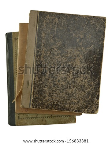 pile of notebooks isolated on white