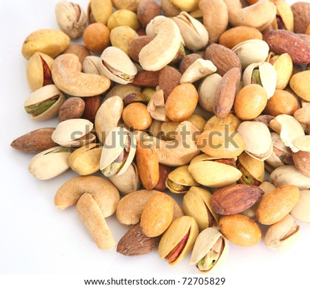 pile of nuts - stock photo