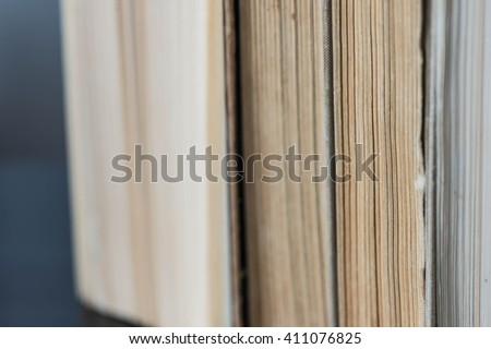 Pile of old books close up - stock photo