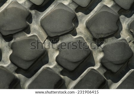 Pile of old car tires for rubber recycling  - stock photo