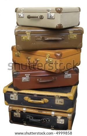 A Pile Of Suitcases Stock Images, Royalty-Free Images & Vectors ...