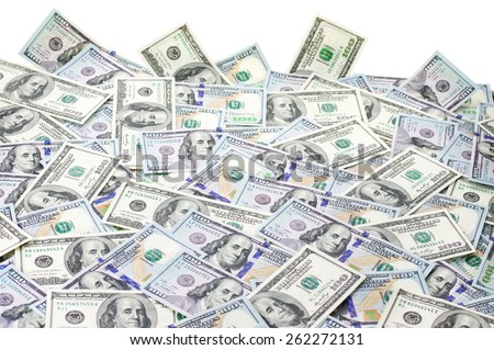 Pile of one hundred dollar bills new and old design.