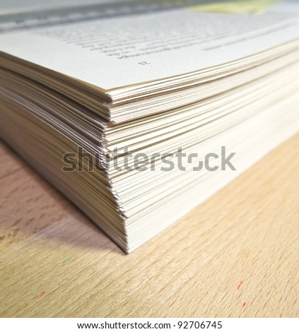 Pile of paper - stock photo