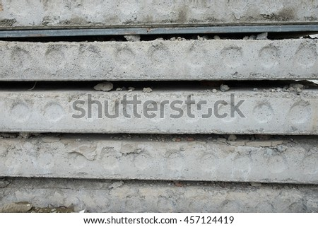 Pile of paving slabs background Close Up - stock photo