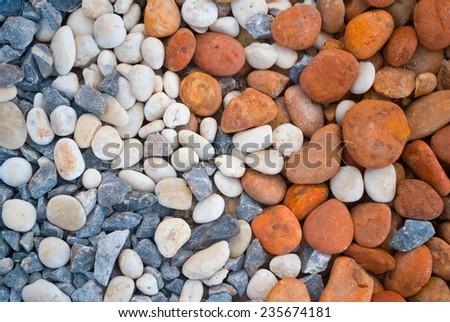 Pile of pebbles , thailand  - stock photo