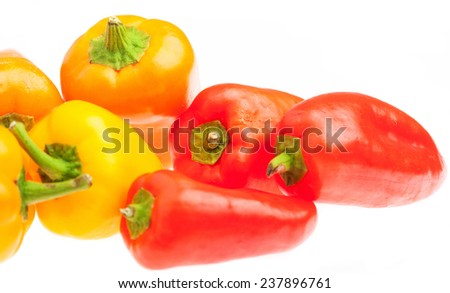 pile of peppers isolated on a white background - stock photo