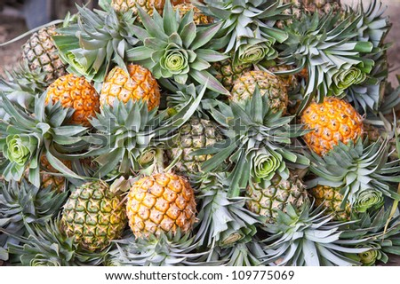 pile of pineapple