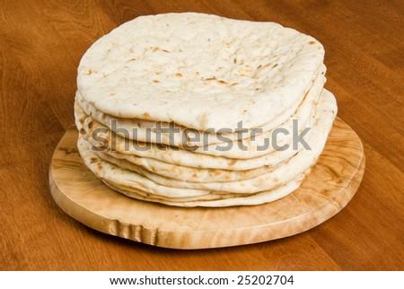 Pile of Pita Bread - stock photo