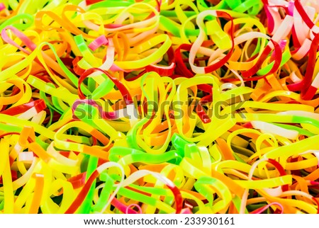 pile of plastic band - stock photo