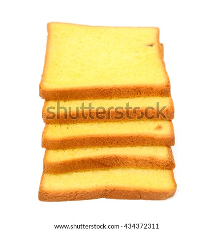 pile of pumpkin bread isolated on white