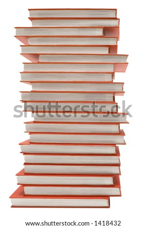 Pile of Red Books w/ Path