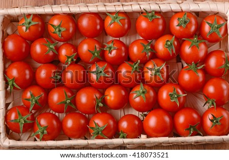 pile of red cherry tomatoes