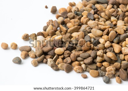 Pile of rock Isolated on White Background