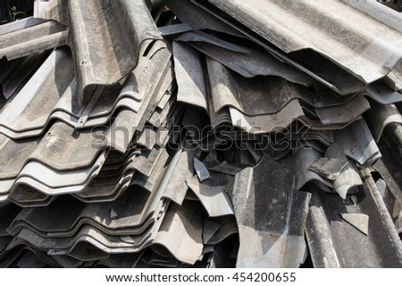 Pile of roof tiles  - stock photo