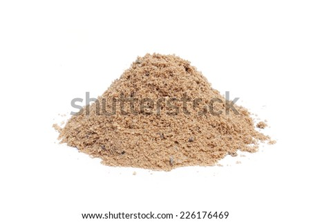 pile of sand - construction material       - stock photo