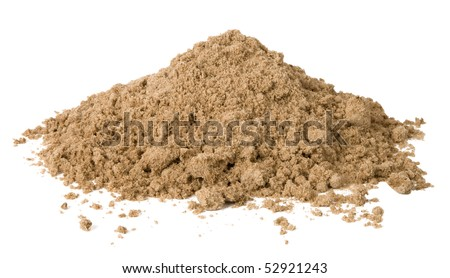 Pile of sand isolated on white - stock photo