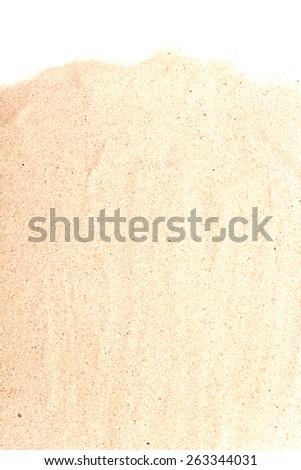 pile of sand isolated on white background - stock photo