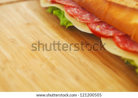 pile of sandwiches close - stock photo