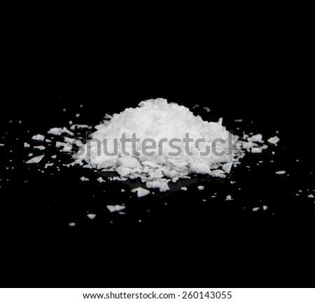 Pile of Sea Salt - stock photo
