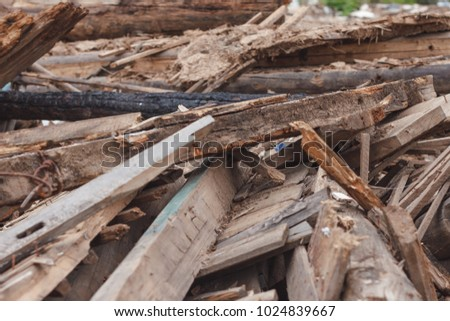 Pile Small Pieces Scrap Wood Stock Photo Royalty Free 1024839667