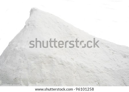 Pile of snow - stock photo