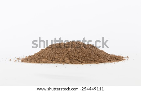 Pile of soil - stock photo
