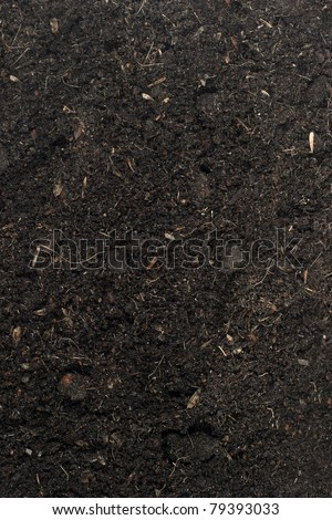 Pile of soil for plant isolated on white background   - stock photo