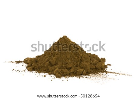 Pile of soil isolated on white - stock photo