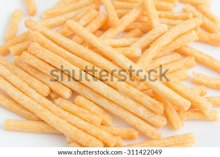 pile of spicy french fries - stock photo