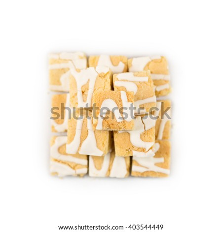 Pile of Square Lemon Cakes