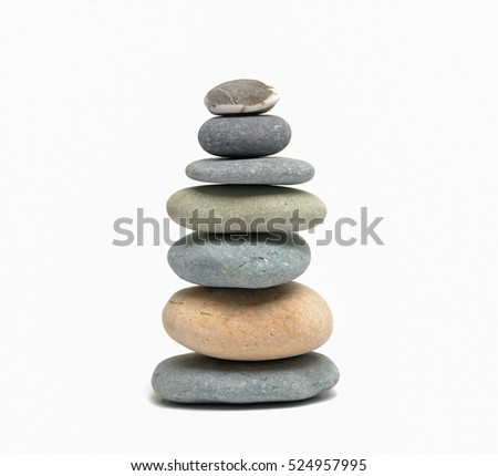 pile of stacked stones isolated
