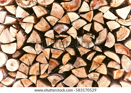 Pile of stacked triangle firewood prepared for fireplace and boiler. - Firewood Stock Images, Royalty-Free Images & Vectors Shutterstock