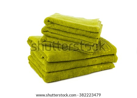 Pile of towels isolated