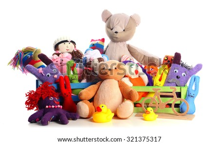Pile Toys Isolated On White Stock Photo (Edit Now ...
