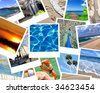 pile of vacation photos - stock photo
