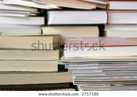 Pile of various books and magazines