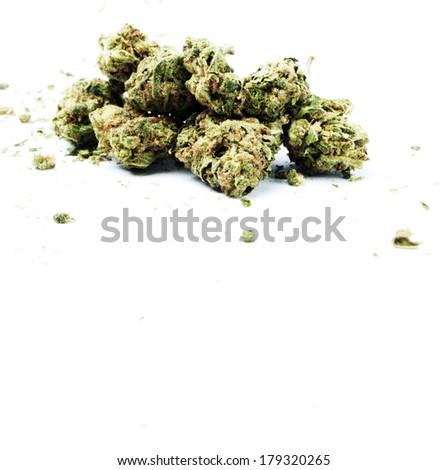 Pile of weed. Marijuana  - stock photo
